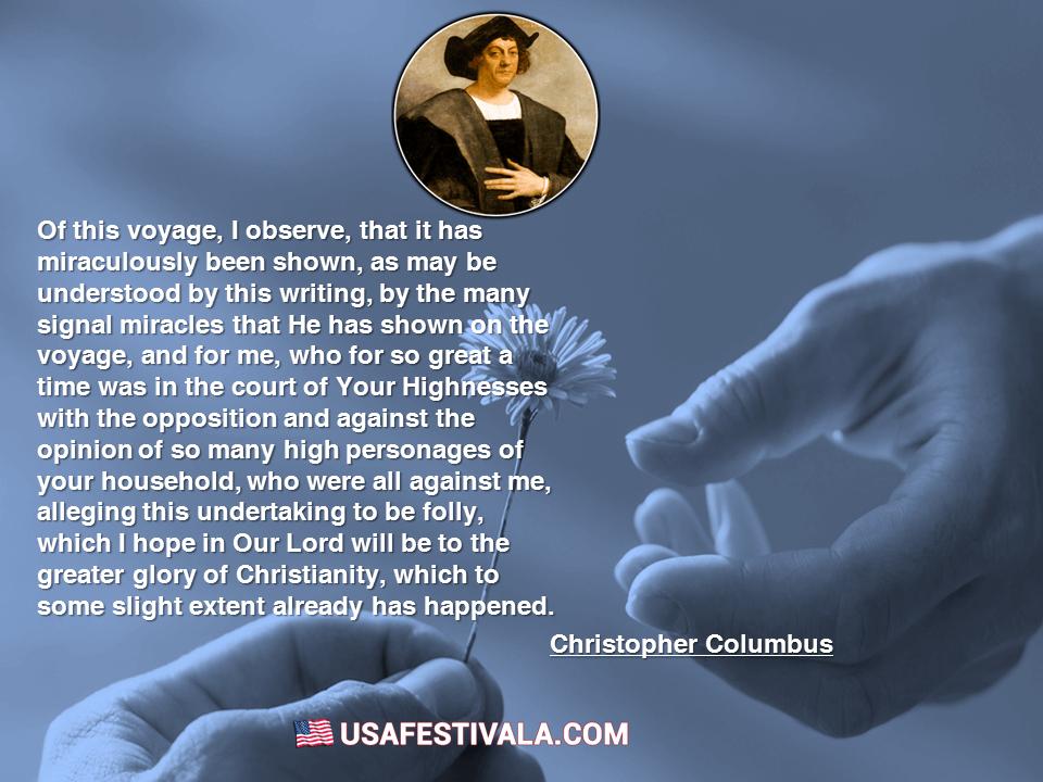 Christopher Columbus Quotes