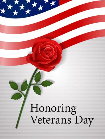 Veterans day cards November