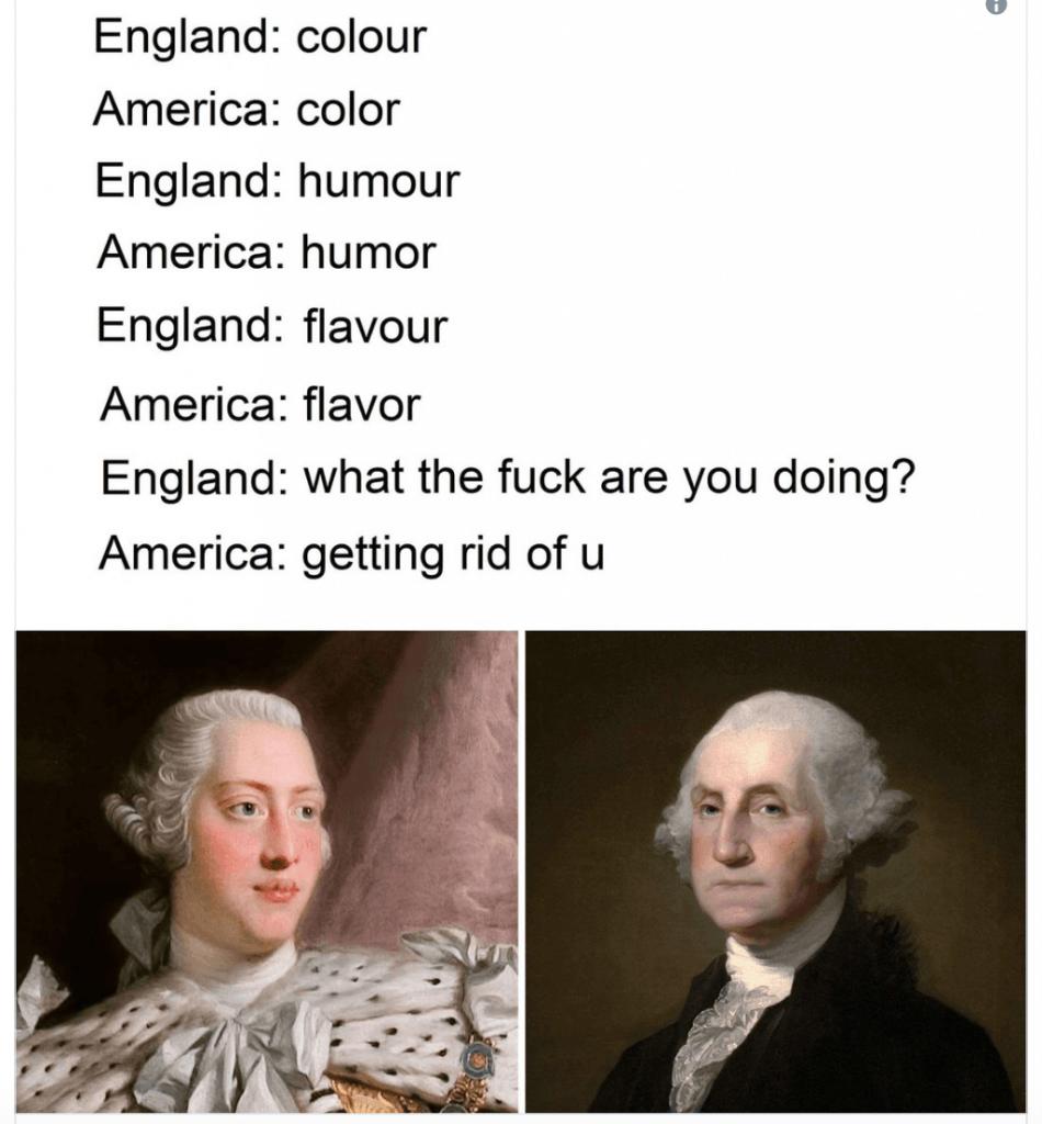 British 4th of July memes 2020